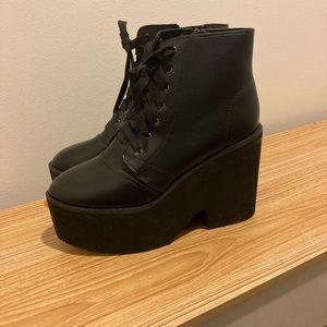Size 10 never worn black ankle platform boots